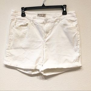 High waisted Vintage America white denim shorts